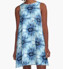 Shibori dyeing. A-Line Dress
