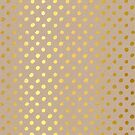 RUSTIC CONFETTI polka dot pattern gold foil effect on kraft by Kat Massard