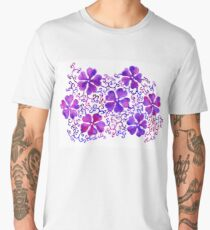 Decorative floral abstract background  watercolor Men's Premium T-Shirt