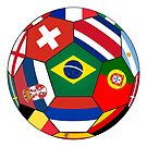Football ball with various flag by siloto