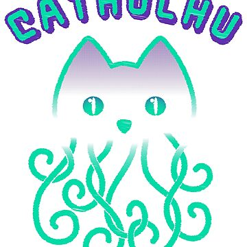 Cathulhu Funny Cthulhu Cat T-Shirt ELDRITCH HORROR  by Max58