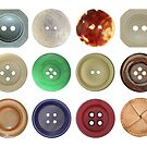 Various old and used buttons by siloto