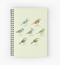 The Tit Family Spiral Notebook