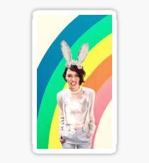 Lena Headey-  bunny ears & rainbows Sticker