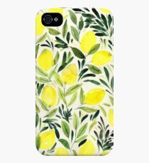 Lemons watercolor on creme white iPhone 4s/4 Case
