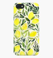 Lemons watercolor on creme white iPhone SE/5s/5 Case