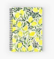 Lemons watercolor on creme white Spiral Notebook
