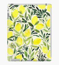 Citrons aquarelle sur crème blanche Coque et skin iPad