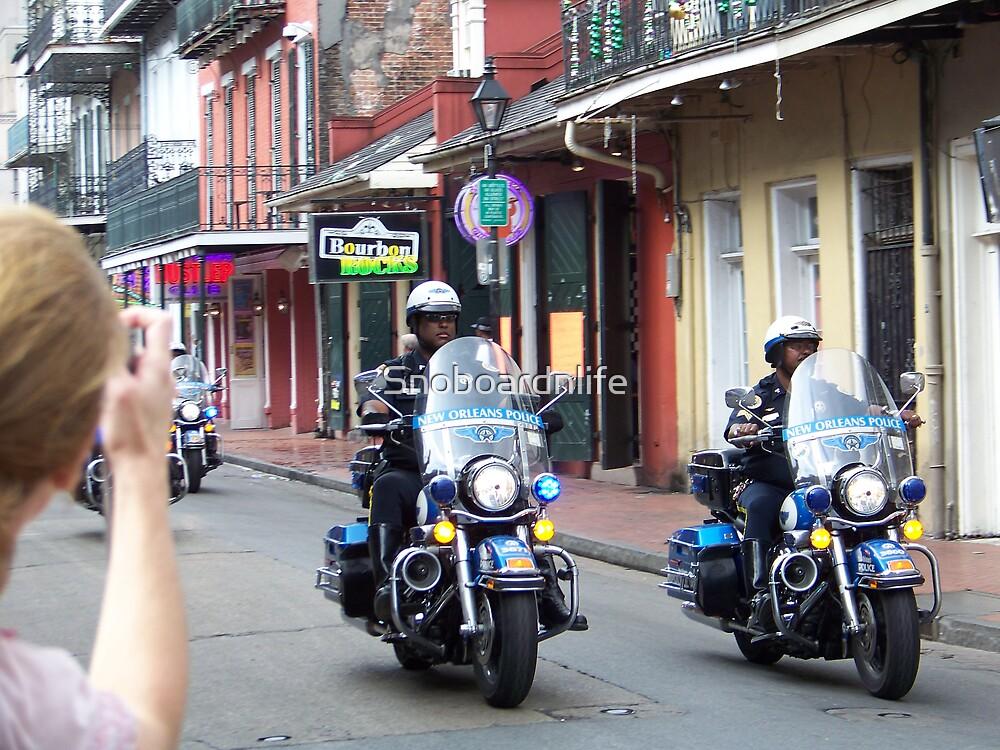 Police Escort Through NOLA by Snoboardnlife