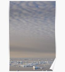 Mackeral sky and bergy bits Poster