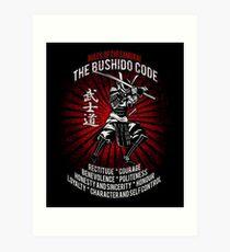 Samurai - Bushido Code Kunstdruck
