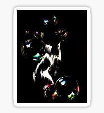 Bubbles black Sticker