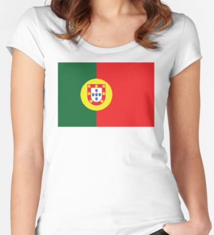 Portugal Portuguese Football National Team Flag • ID-A1 Women's Fitted Scoop T-Shirt