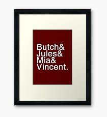 Pulp Fiction Helvetica Framed Print