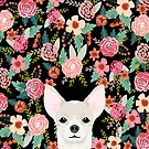 Chihuahua face floral dog breed cute pet gifts pure breed dog lovers chihuahuas by PetFriendly