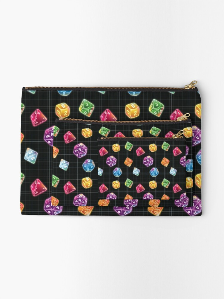 Alternate view of Dungeon Master Dice Zipper Pouch