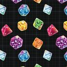 Dungeon Master Dice by KyraJones