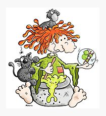 The Weather Witch Prepare A Potion Cartoon Photographic Print
