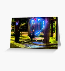 Ghost in the park Greeting Card