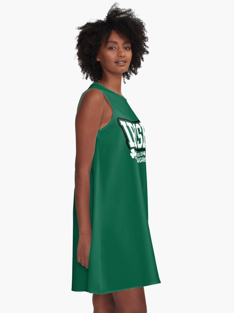 Alternative Ansicht von Irisch und voll von Shenanigans A-Linien Kleid