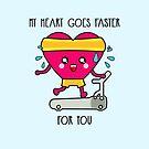 «Mi corazón va más rápido por ti» de EuGeniaArt