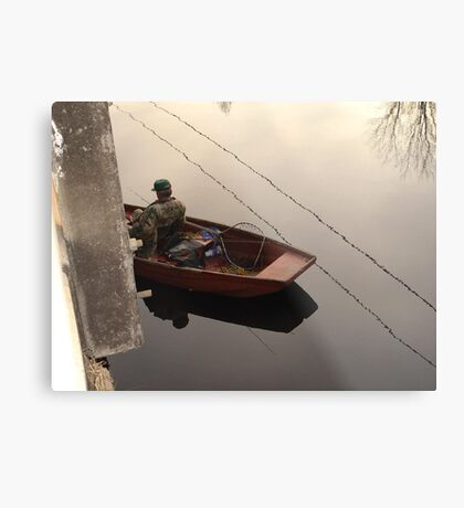 Fishing the Crappie Hole Metal Print