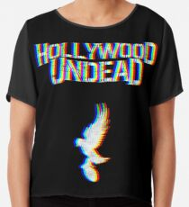 Hollywood Glitched Chiffon Top