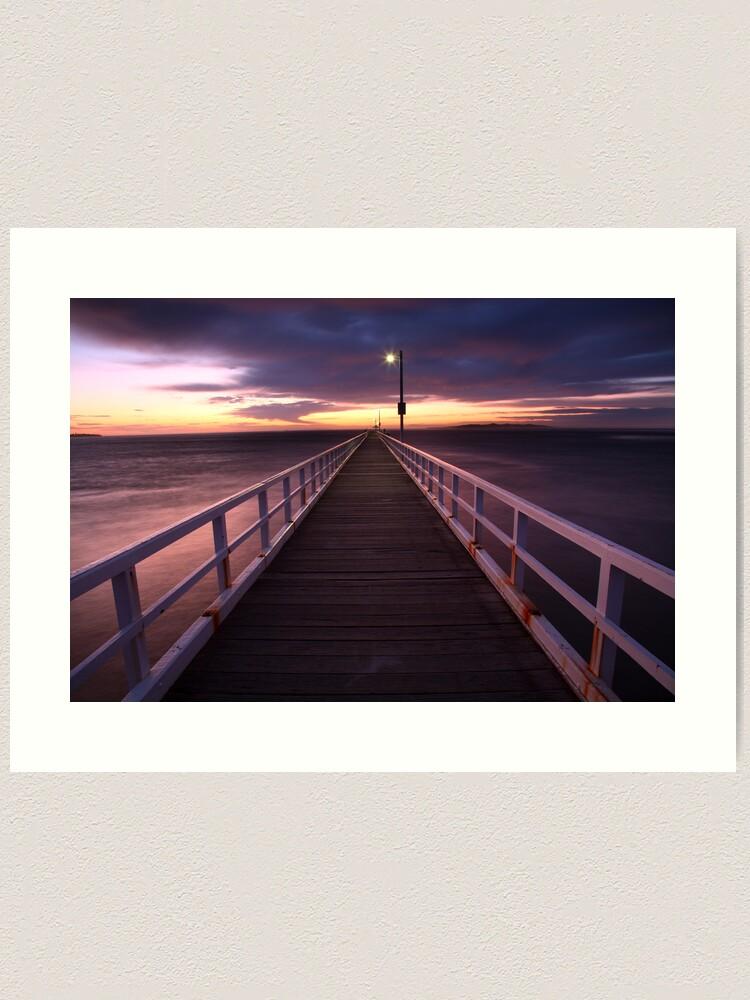 Alternate view of Pre-Dawn Greets Point Lonsdale Pier, Australia Art Print