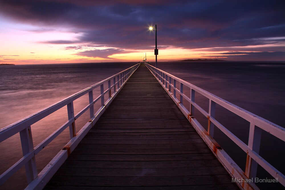 Pre-Dawn Greets Point Lonsdale Pier, Australia by Michael Boniwell