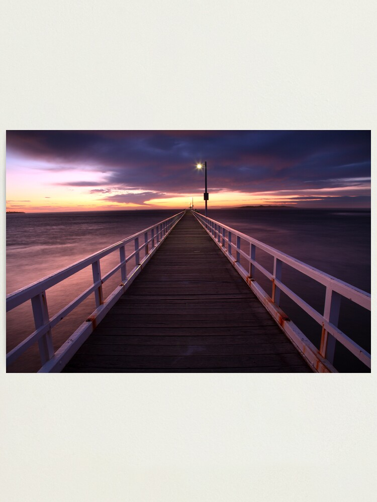 Alternate view of Pre-Dawn Greets Point Lonsdale Pier, Australia Photographic Print