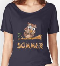 Sommer Owl Women's Relaxed Fit T-Shirt