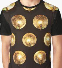 Decorative installation incandescent lamps and golden reflectors Graphic T-Shirt