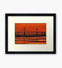 Sunshine Skyway Bridge Sunrise Framed Print
