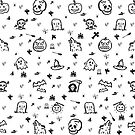 Halloween Supper Pattern by grfxpro