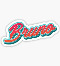 Bruno Mars Typography Sticker