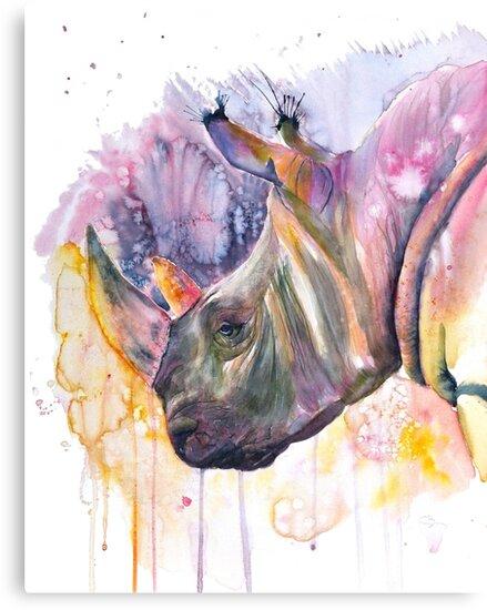 « Rhinocéros coloré » par cindybarillet