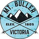 Skiing Mount Buller Victoria Australia Hiking Climbing 3 by MyHandmadeSigns
