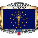 Indiana Art Deco Design with Flag by Cleave