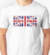 BRITISH, Britain, GB, England, Scotland, Ireland, Wales. UK. On WHITE Unisex T-Shirt