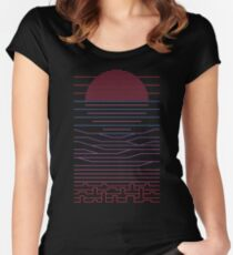 Leave The City For The Sea Women's Fitted Scoop T-Shirt