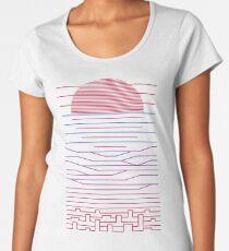 Verlassen Sie die Stadt für das Meer Premium Rundhals-Shirt