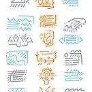 Icons: Blau, Orange, Grau von beth-cole