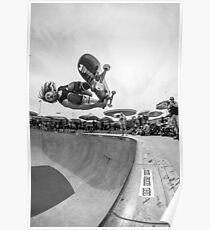 RJ Barbaro Black & White Skateboarding Poster