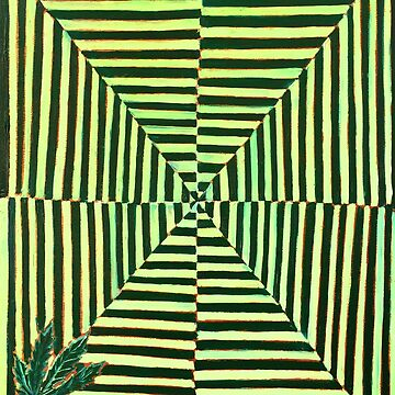 Trippy Weed Leaf by realartisbetter