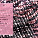 Pink Zebra Sequins by CrazyCraftLady