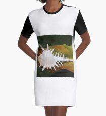 Murex negrospinosus on a Palm Leaf Graphic T-Shirt Dress