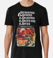 Camiseta premium para hombre Dungeons & Diners & Dragons & Drive-Ins & Dives: Imagen ligeramente más grande