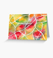 Rainbow Scales ~ Abstract Art Greeting Card