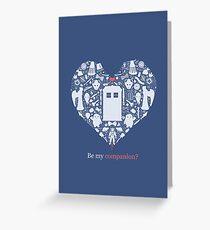 Be my companion? Greeting Card