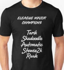CLOUD9 ELEAGUE MAJOR CHAMPION ROSTER (white) Unisex T-Shirt
